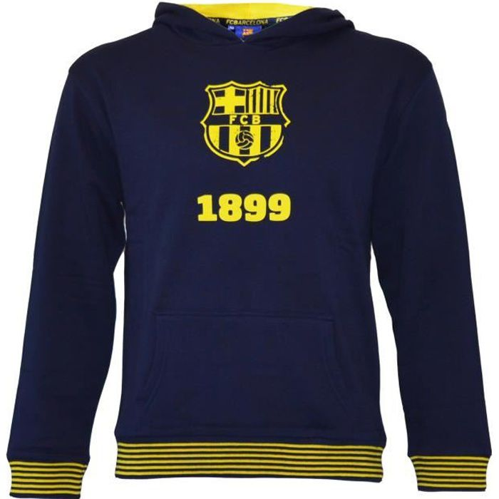 14 ans FC 100 /% polyester produit sous licence officielle Barcelona Sweat /à capuche Bar/ça