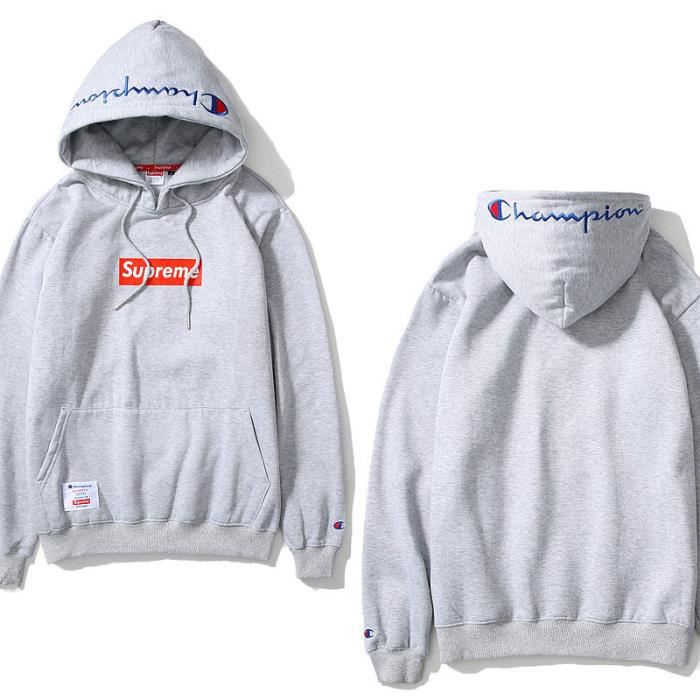 champion supreme sweat shirt pull over homme femme hoodies hooded hip hop capuche manche. Black Bedroom Furniture Sets. Home Design Ideas