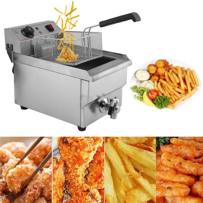 FRITEUSE ELECTRIQUE Friteuse 10 Litres Fritteuse Electrique Inox Neuf
