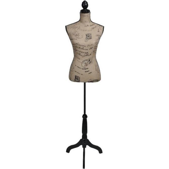 Buste De Couture Mannequin De Femme Marron Et Noir Jute Mannequin De Couture De Vitrine Buste Décoratif De Femme Réglable Achat Vente Buste Mannequin Cdiscount