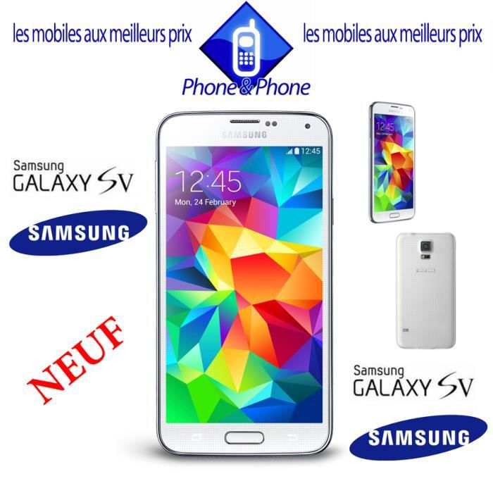 samsung galaxy s5 neuf blanc debloque achat smartphone. Black Bedroom Furniture Sets. Home Design Ideas