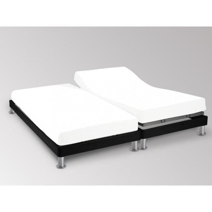 Couleur Framboise Drap House pour lit articul/é 2x80x200 en Percale