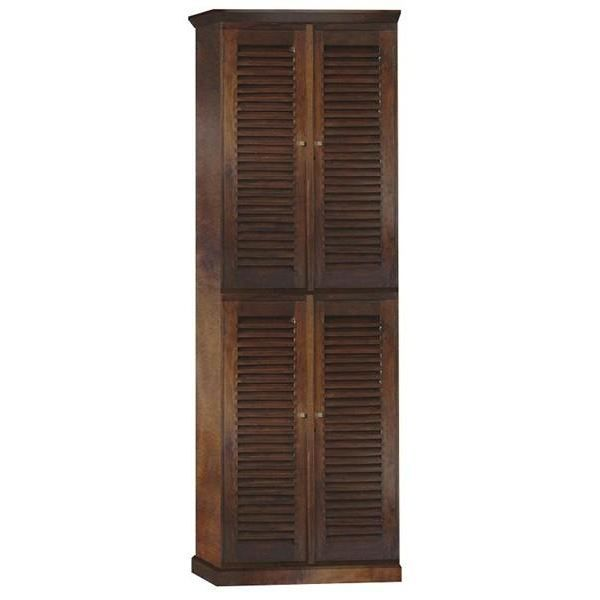 Armoire coloniale 4 portes persiennes achat vente for Armoire chambre style colonial