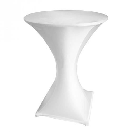 Housse pour table mange debout blanc achat vente for Table mange debout