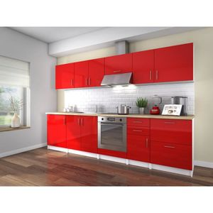 cuisine equipee rouge achat vente cuisine equipee. Black Bedroom Furniture Sets. Home Design Ideas