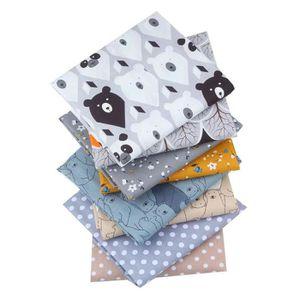 tissu tissu coton art scrapbooking tissu 8 pi/èces Kasoul Tissu de coton vendu au m/ètre 50 x 50 cm Tissu pour patchwork bricolage