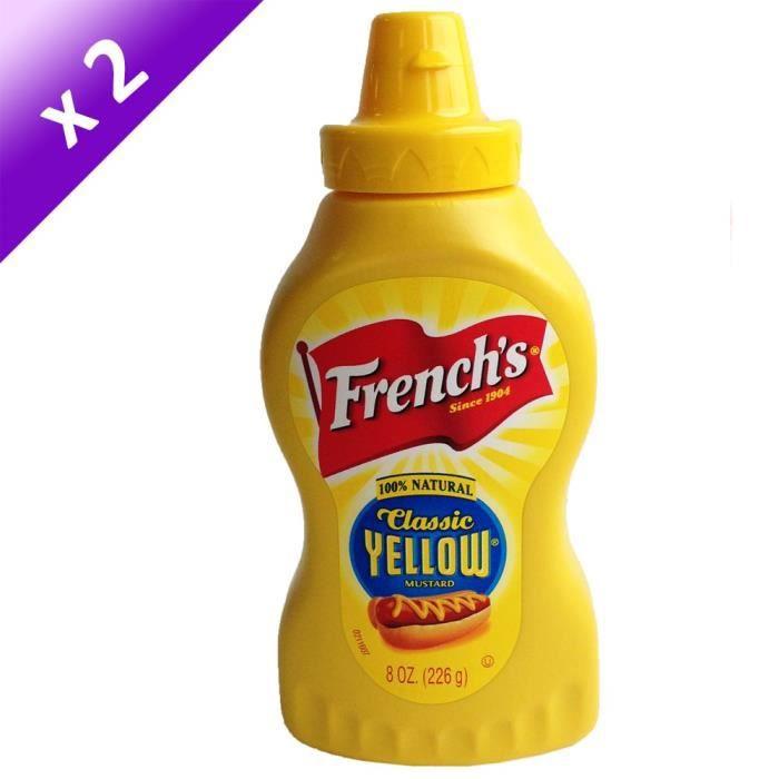 [LOT DE 2] FRENCH'S Moutarde au Miel - 340 g