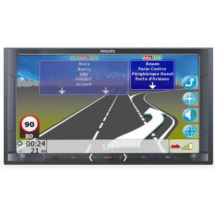 PHILIPS CE 600 N Autoradio Multimedia GPS - Ecran 6,8''