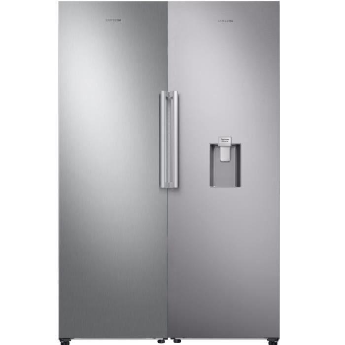 PACK SAMSUNG SAMRR39M7200SA réfrigérateur 1 porte-375 L-Froid ventilé intégral-A+-L 59,5 x H 185,5 cm+RZ32M7000SA - Congélateur