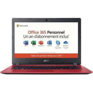 "Vente PC Portable Ordinateur Portable - ACER Aspire A114-31-C40D - 14"" HD - Celeron N3350 - RAM 2Go - Stockage 64Go - Windows 10 + Office 365 Perso pas cher"