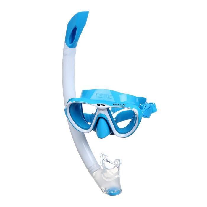 vidaXL Kit Plong/ée Palmes Masque Bleu pour Enfants Kit Plong/ée pour enfants Kit Plong/ée