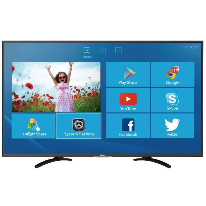 haier le32u5000a smart tv full hd 80cm hdmi noir t l viseur led avis et prix pas cher. Black Bedroom Furniture Sets. Home Design Ideas