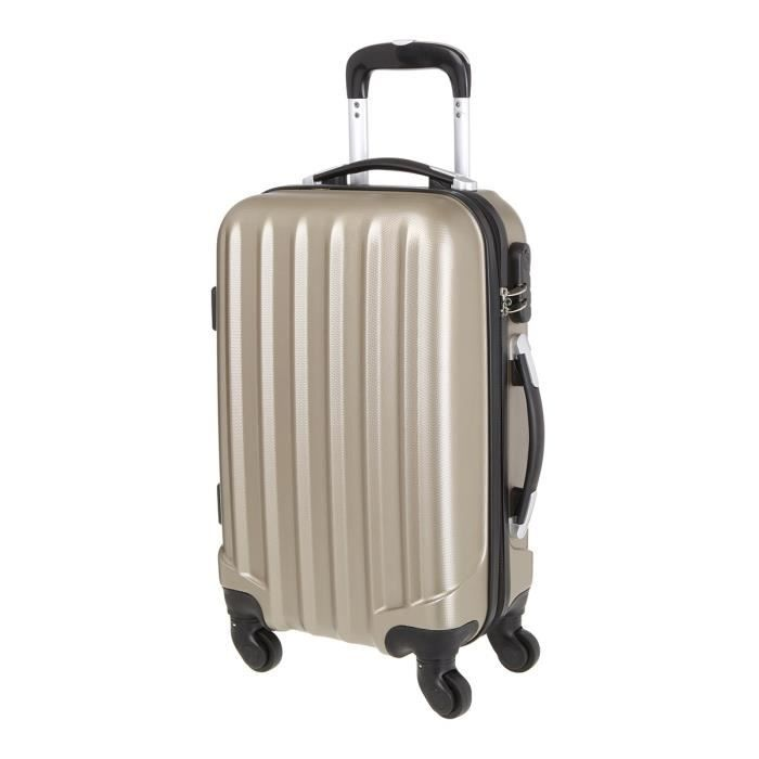 VALISE - BAGAGE Valise en ABS Champagne 4 Roues 50x35x20 cm