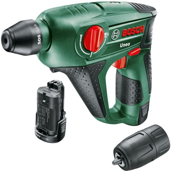 BOSCH Perforateur Uneo 12, 2 batteries 2,5 Ah