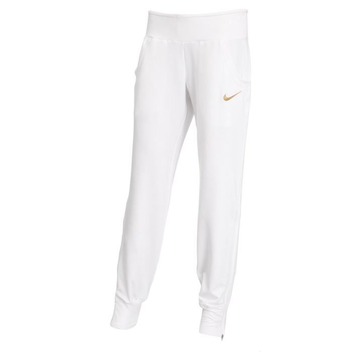 nike pantalon de surv tement femme blanc achat vente pantalon cdiscount. Black Bedroom Furniture Sets. Home Design Ideas