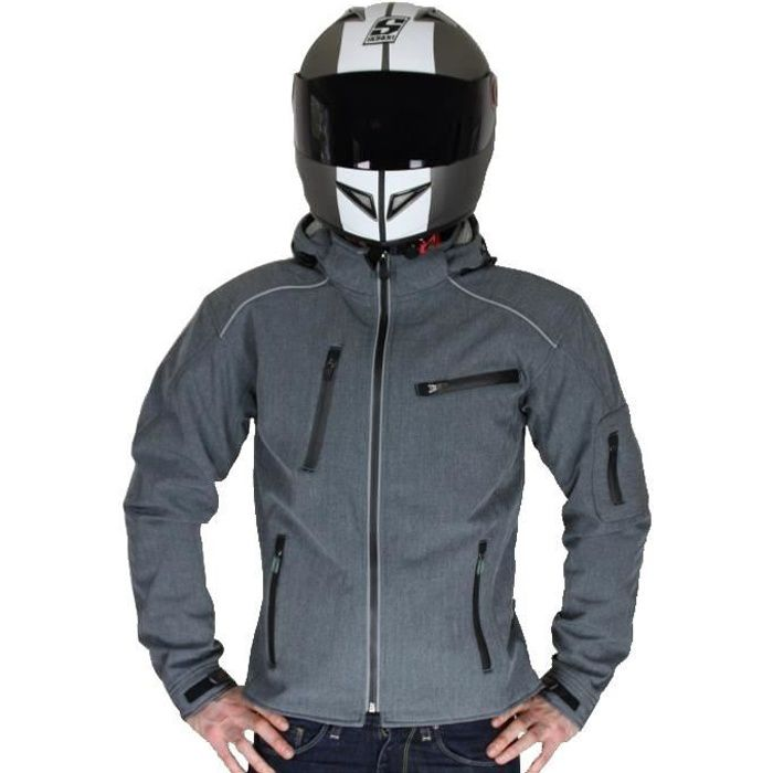 rider tec blouson moto avec protections homologu es softshell achat vente blouson veste. Black Bedroom Furniture Sets. Home Design Ideas