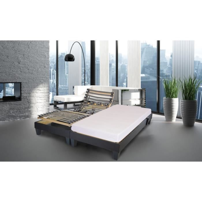 satellite box sommier lattes matelas 2 80x200 2 places mousse ferme 55kg m3 22. Black Bedroom Furniture Sets. Home Design Ideas