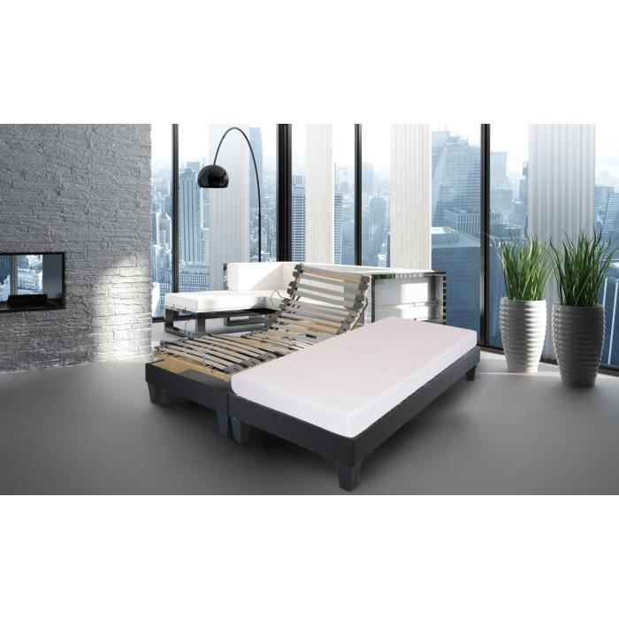 combi sommier lattes matelas 2 90x200 2 places mousse ferme 55kg m3 28 lattes. Black Bedroom Furniture Sets. Home Design Ideas