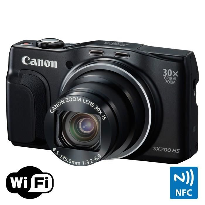 canon sx700 hs noir cmos 16 mp zoom 30x appareil photo num rique compact achat vente. Black Bedroom Furniture Sets. Home Design Ideas