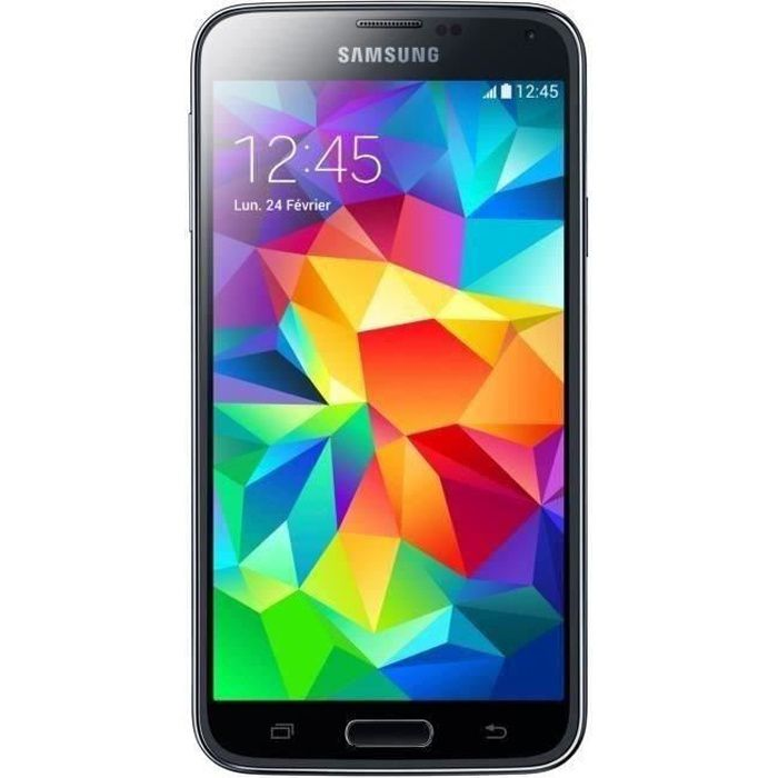 samsung galaxy s5 noir achat smartphone pas cher avis. Black Bedroom Furniture Sets. Home Design Ideas