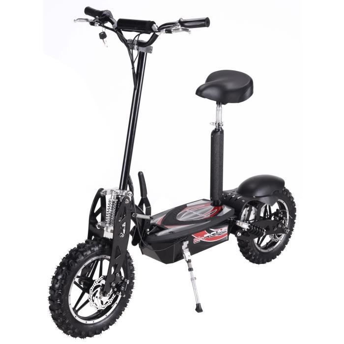 trottinette electrique cross 1000w noire achat vente. Black Bedroom Furniture Sets. Home Design Ideas
