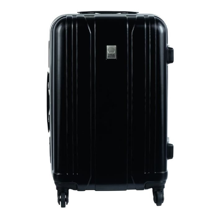 visa delsey valise rigide abs 4 roues 74 cm aerobis noir noir achat vente valise bagage. Black Bedroom Furniture Sets. Home Design Ideas