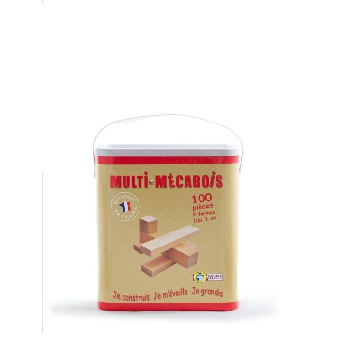 Mecabois Baril De 100 Pièces Jeux De Constructions