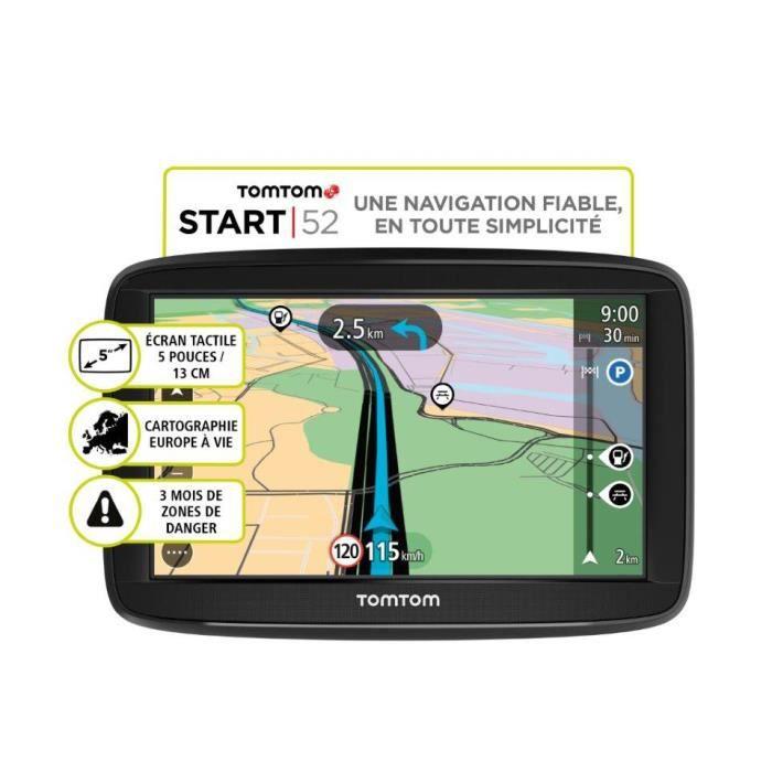 GPS AUTO TomTom Start 52 reconditionné, 5 pouces Cartograph