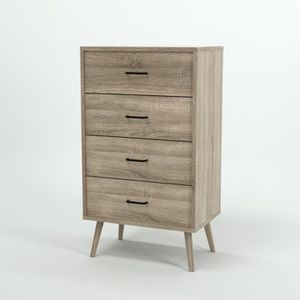 chiffonnier scandinave achat vente chiffonnier scandinave pas cher cdiscount. Black Bedroom Furniture Sets. Home Design Ideas