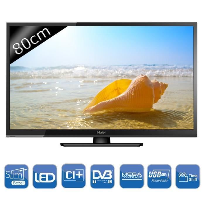 haier le32f6000t tv led tnt hd 80 cm achat vente t l viseur led le32f6000t tv led hd 80cm. Black Bedroom Furniture Sets. Home Design Ideas