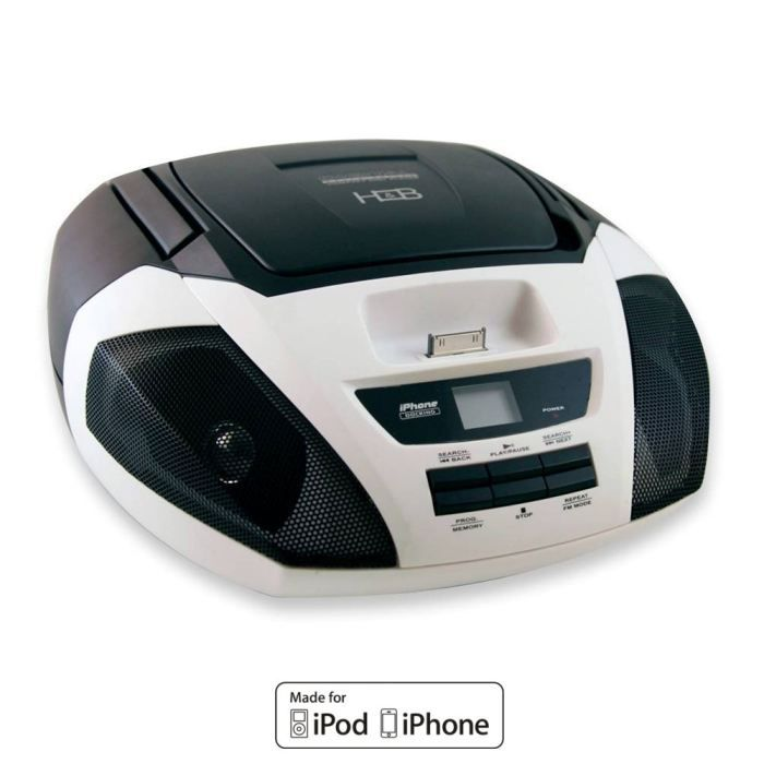 h b dx 1000 w lecteur cd dock ipod iphone radio cd cassette avis et prix pas cher cdiscount. Black Bedroom Furniture Sets. Home Design Ideas
