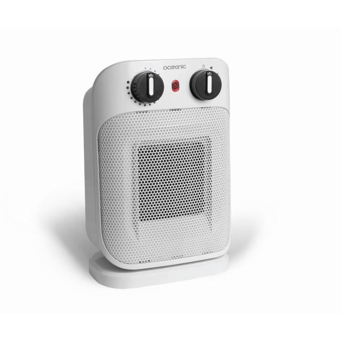 blanc Radiateur Soufflant Electrique,C/éramique Soufflant Salle de Bain Chauffage Oscillation Chauffe Rapide Protection Anti-surchauffe S/écurit/é Anti-basculement