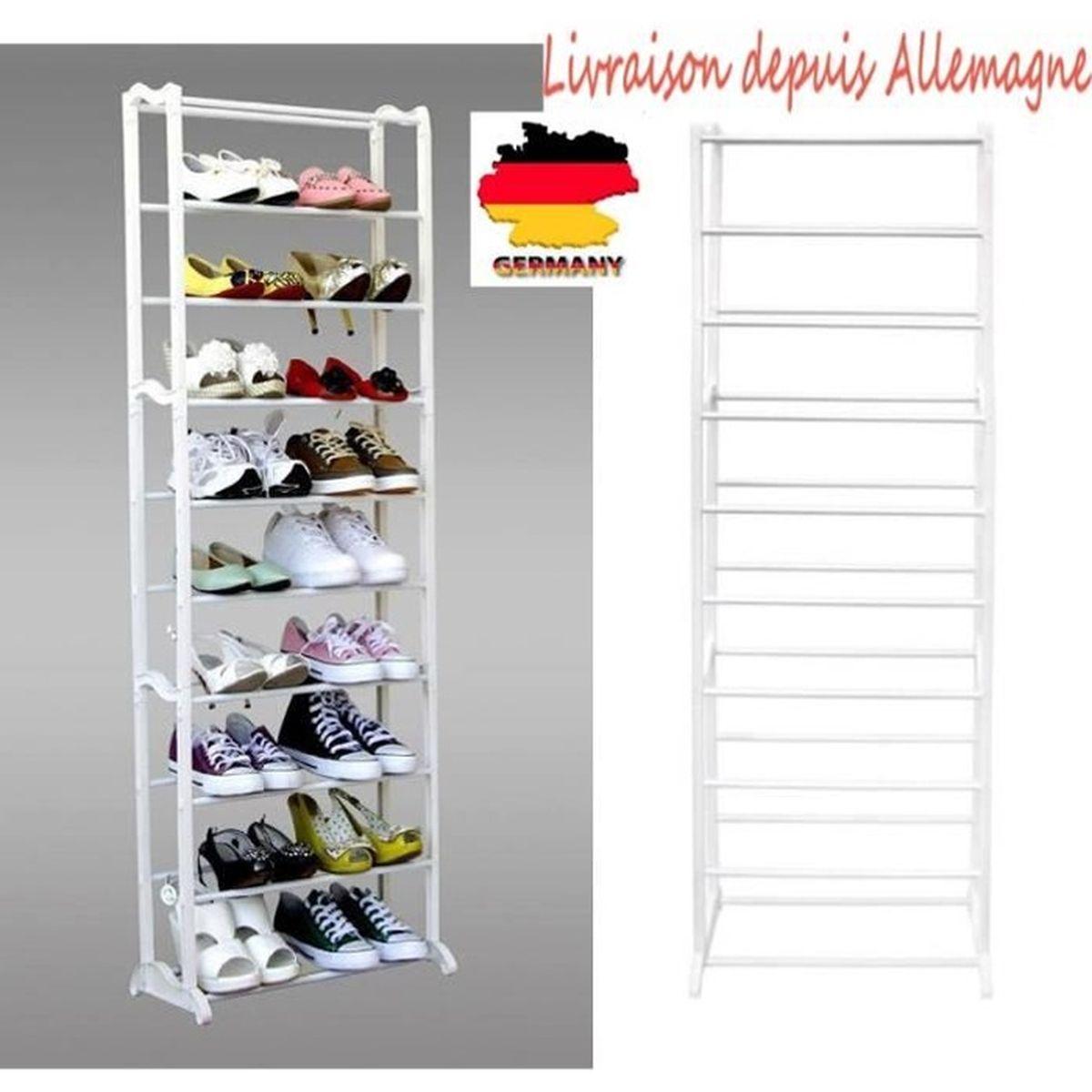 Rangement À Chaussures Gain De Place simple 10 couche rangement à chaussure meuble à chaussure