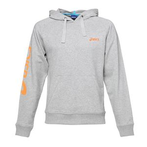 ASICS Sweat ? capuche Homme - Gris et orange