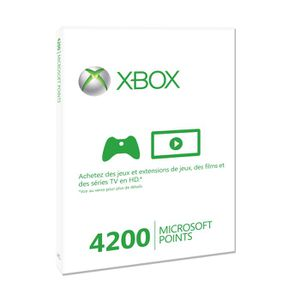 CARTE MULTIMEDIA 4200 Microsoft Points Xbox LIVE / Accessoire XBox3
