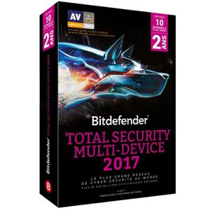 Bitdefender Total Security Multi-Device 2017 - 2 ans 10 appareils