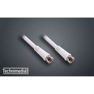 TECHNIMEDIA Cable coaxial antenne satellite type F - 2 m