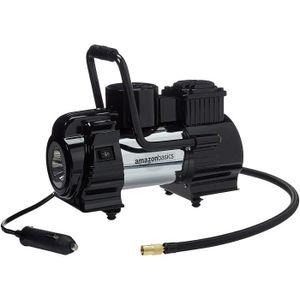 Basics Compresseur dair portable avec une paire de pinces pour batterie et /étui de transport