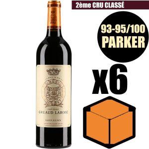 VIN ROUGE X6 Château Gruaud Larose 2016 Rouge 75 cl AOC Sain