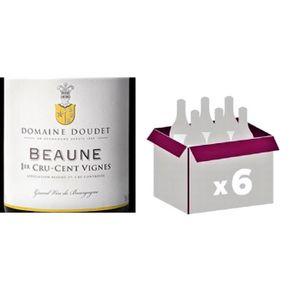 VIN ROUGE Lot de 6 bouteilles Beaune 1er Cru Cent Vignes 201
