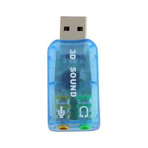 CARTE SON EXTERNE INECK® Adaptateur Clé USB Carte Son Externe pour M