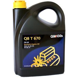 HUILE MOTEUR Bidon 5 litres d'huile Q8 T 670 5W40