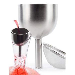 Pulltex Decanter Vin Entonnoir avec filtre en acier inoxydable