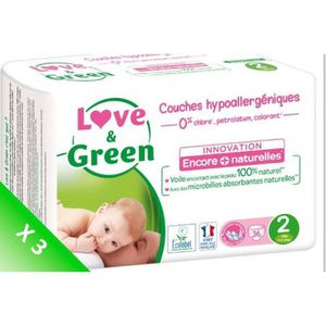 COUCHE LOVE AND GREEN Couches écolabellisées T2 - 108 cou