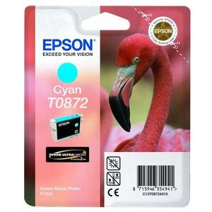 CARTOUCHE IMPRIMANTE Epson T0872 Flamant rose Cartouche d'encre Cyan