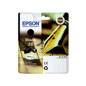 CARTOUCHE IMPRIMANTE Epson T1621 Stylo à plume Cartouche d'encre Noir