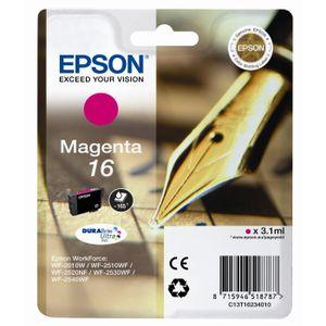 CARTOUCHE IMPRIMANTE Epson T1623 Stylo à plume Cartouche d'encre Magent
