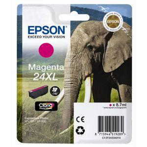 CARTOUCHE IMPRIMANTE Epson T2433 XL Eléphant Cartouche d'encre Magenta