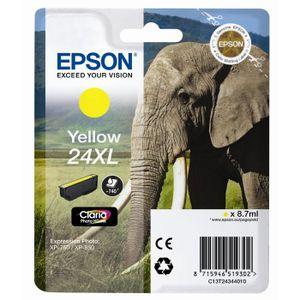 CARTOUCHE IMPRIMANTE Epson T2434 XL Eléphant Cartouche d'encre Jaune