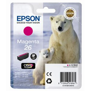 CARTOUCHE IMPRIMANTE Epson T2613 Ours polaire Cartouche d'encre Magenta